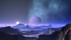 Nebula and planet aliens stock footage