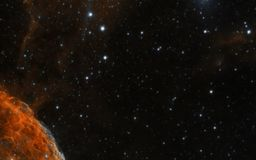 Nebula in space background stock photography