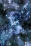 Nebula and starfield background Royalty Free Stock Photo