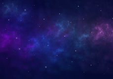 Nebula and stars in night sky. Space background. Royalty Free Stock Images