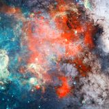 Nebula and stars in outer space. Elements of this image furnished by NASA. stock photography