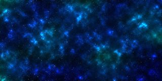 Nebula and stars in outer space. Stars in universe space with dark blue nebula and light Stock Image
