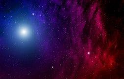 Nebula and stars. Royalty Free Stock Photos