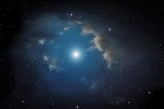 Nebula and stars. Stock Image