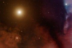 Nebula and stars. Royalty Free Stock Photo
