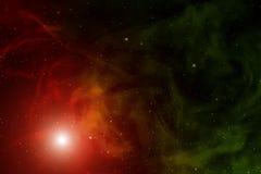 Nebula and stars. Royalty Free Stock Images