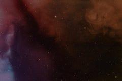 Nebula and stars. Royalty Free Stock Photography