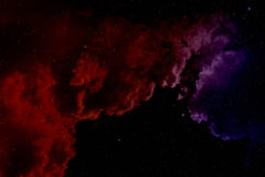 Nebula and stars. Space background with nebula and stars Royalty Free Stock Images