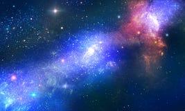 Nebula x. Stellar nebula cosmos space way stock illustration