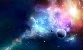 Nebula Z. Stellar nebula cosmos space abstract Stock Photos