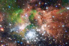 Nebulae and many stars in outer space. Elements of this image furnished by NASA.  stock image