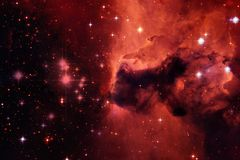 Nebulae and many stars in outer space. Elements of this image furnished by NASA.  stock photo