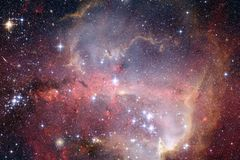 Nebulae and many stars in outer space. Elements of this image furnished by NASA.  stock photos