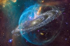 Nebulae and many stars in outer space. Elements of this image furnished by NASA stock illustration