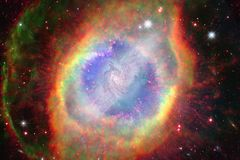 Nebulae and stars in deep space. Cosmic art, science fiction wallpaper. Elements of this image furnished by NASA royalty free stock photography