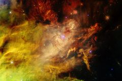 Nebulae and stars in deep space. Cosmic art, science fiction wallpaper. Elements of this image furnished by NASA stock images