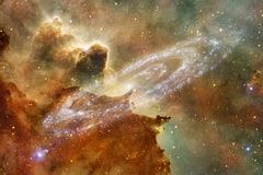 Nebulae and stars in deep space. Cosmic art, science fiction wallpaper royalty free stock photo