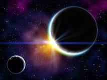 nebulaplanet Royaltyfri Foto