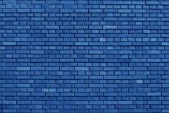 Nebulas ściana z cegieł Błękitny barwiony tło Obrazy Stock