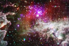 Nebulas, galaxies and stars in beautiful composition. Deep space art. Elements of this image furnished by NASA royalty free stock image