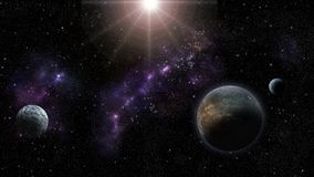 Nebulas, stars and planets. Sci-Fi and astro backround Royalty Free Stock Photography