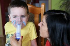 Nebuliser therapy stock images