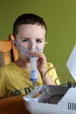 Nebuliser therapy Stock Photography