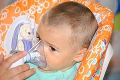 Nebuliser therapy stock photo