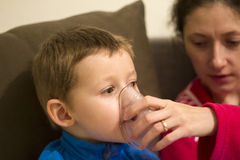 Nebuliser therapy stock image