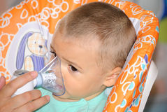 Nebulisertherapie Stock Foto