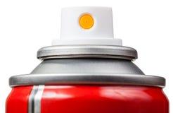 Nebulizer of aerosol can close up isolated Stock Photo