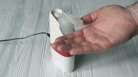 Nebulizzatore ultrasonico professionale dell'inalatore archivi video