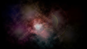 Nebulosa abstracta de las nubes del espacio que brilla intensamente ilustración del vector