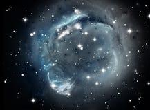 Nebulosa azul de la estrella del espacio Imágenes de archivo libres de regalías