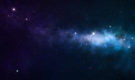 Nebulosa azul e roxa ilustração royalty free