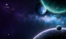 Nebulosa azul e roxa Imagens de Stock