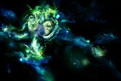 Nebulosa azul esverdeado ilustração do vetor