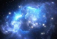 Nebulosa blu dello spazio Immagini Stock