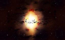 Nebulosa brilhante do espaço Fotos de Stock