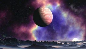 Nebulosa brilhante no planeta estrangeiro vídeos de arquivo