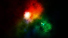 Nebulosa colorida Imagen de archivo