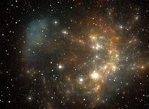 Nebulosa colorida da estrela do espaço Fotos de Stock Royalty Free