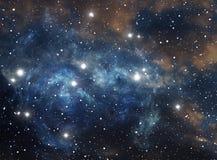 Nebulosa colorida de la estrella del espacio Fotografía de archivo