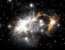 Nebulosa colorida del espacio Imagen de archivo