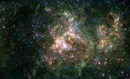 Nebulosa colorida do espaço ilustração royalty free