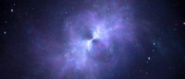 Nebulosa d'ardore Colourful con il centro bursted nello spazio profondo illustrazione vettoriale