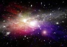 Nebulosa das estrelas, da poeira e do gás em uma galáxia distante ilustração royalty free