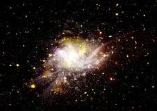 Nebulosa das estrelas, da poeira e do gás em uma galáxia distante Imagens de Stock Royalty Free