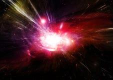 Nebulosa das estrelas, da poeira e do gás em uma galáxia distante Foto de Stock