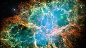 Nebulosa de cangrejo en espacio exterior stock de ilustración